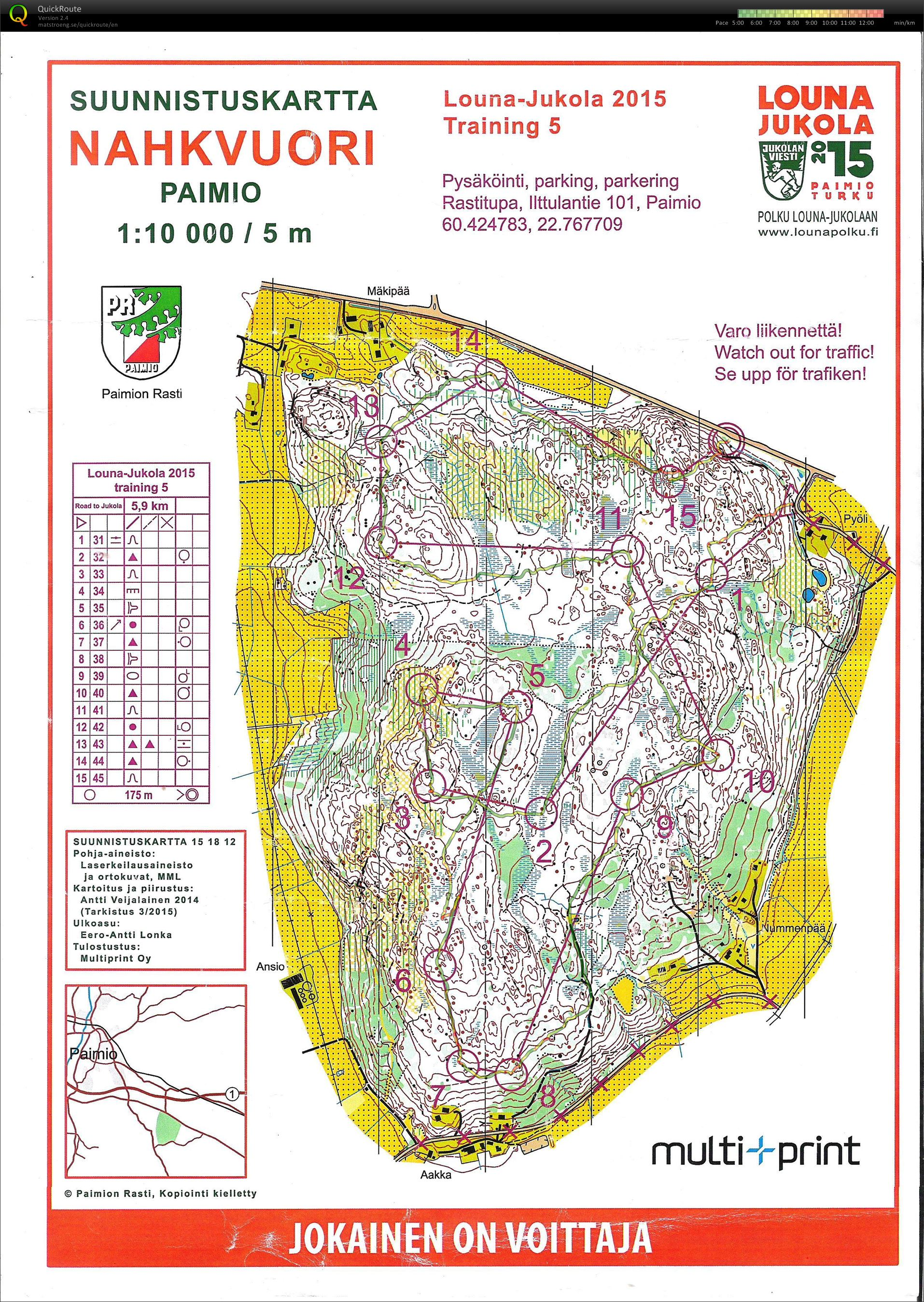 Jukola training #5 (2015-06-11)